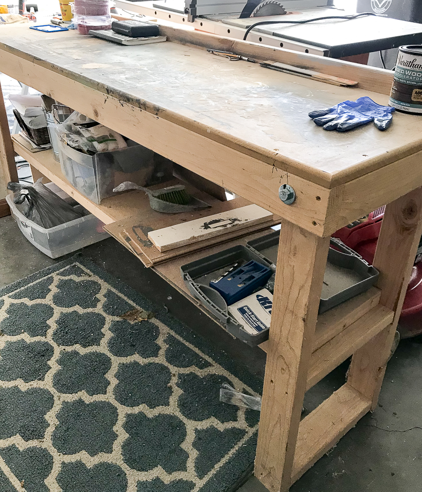 workbench made of wood