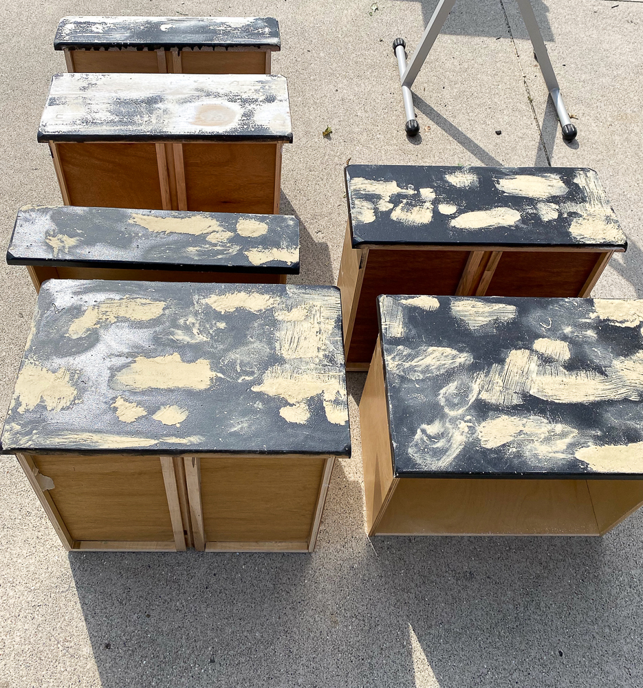 Drawers with wood filler