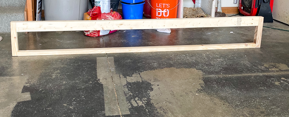 2X4 AND 2X2'S jigged together to build a footboard
