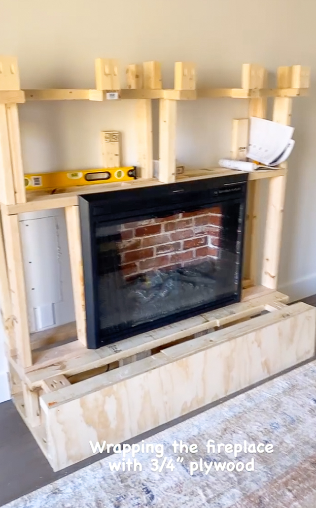 Electric fireplace insert with hearth and mantel