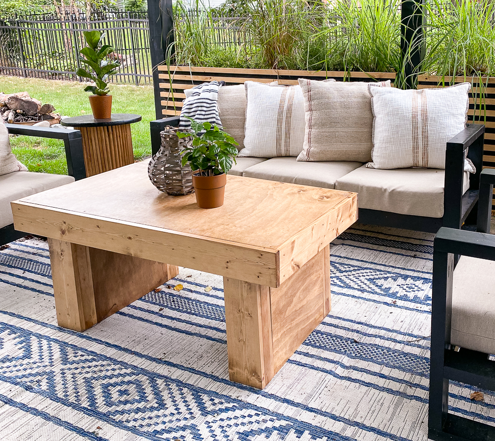 McGee & Co Coffee table dupe built with pinewood