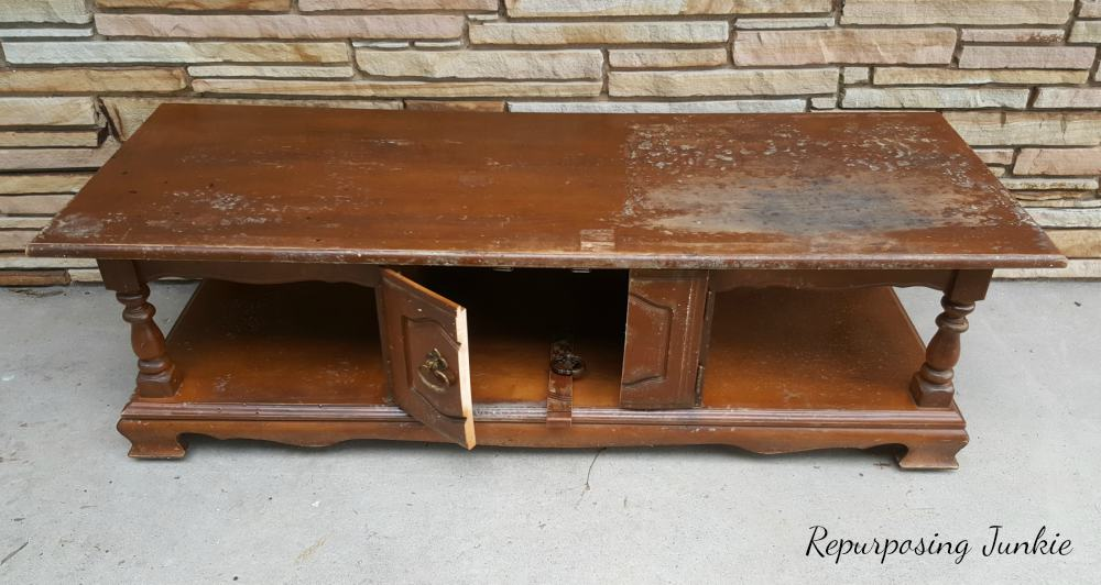 Coffee Table Rescued from the Curb