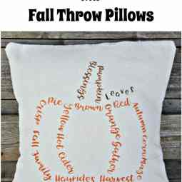 Repurposed Curtains into Fall Throw Pillows-Int'l Bloggers Club