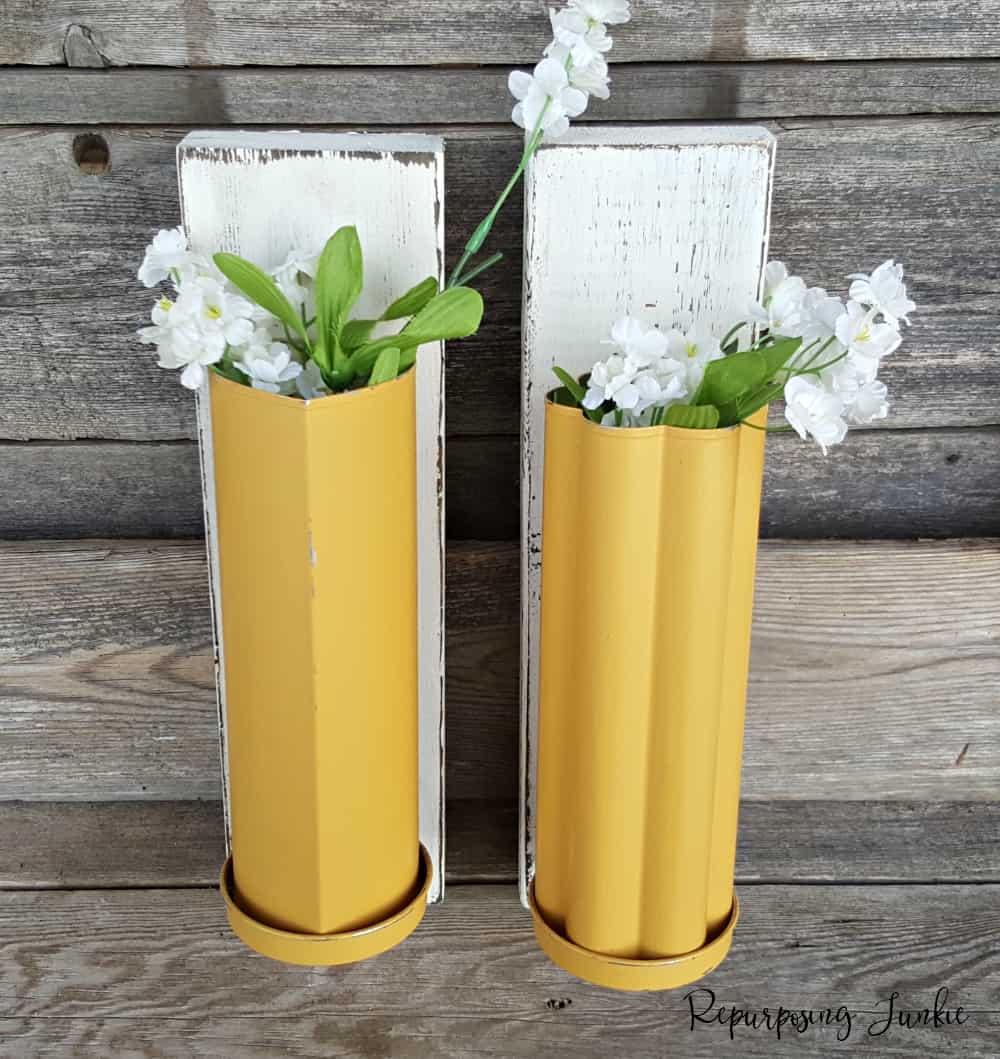 Repurposed Bread Tubes into Vases