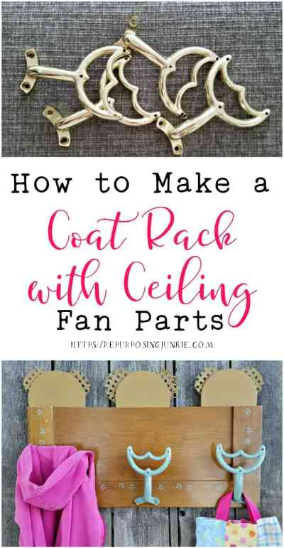 How to Repurpose Ceiling Fan Parts into a Coat Garment Rack