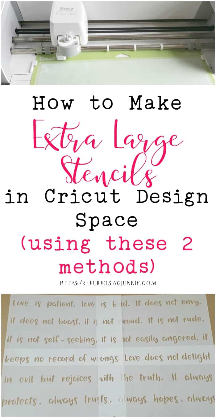 How To Make Extra Large Oversized Stencils In Cricut