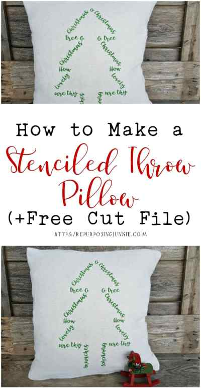 How to Stencil a Throw Pillow