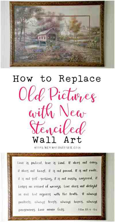 How to Replace Old Pictures with New Stenciled Art