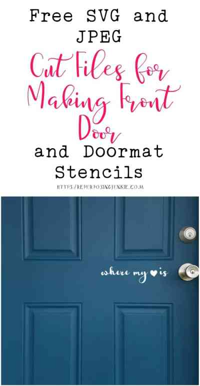 Free SVG and JPEG Cut Files for Making Front Door or Doormat Stencils