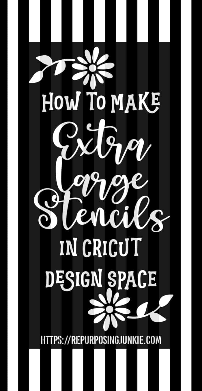 Cricut Image Too Large : cricut, image, large, Extra, Large, Oversized, Stencils, Cricut, Design, Space, Meeting, Overlapping, Methods, Repurposing, Junkie