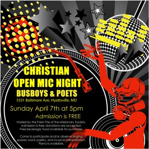 Christian OPEN MIC night-Busboys & Poets