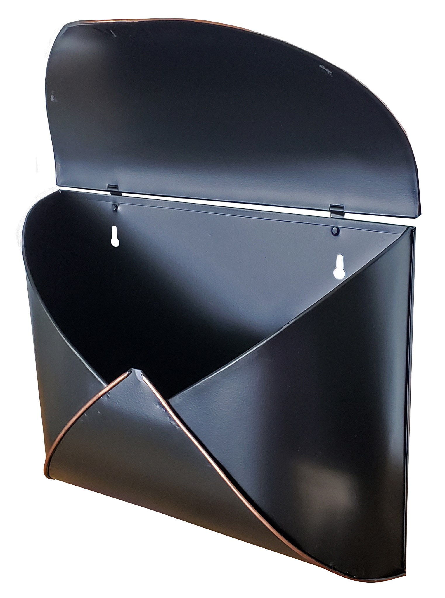 black envelope mailbox w