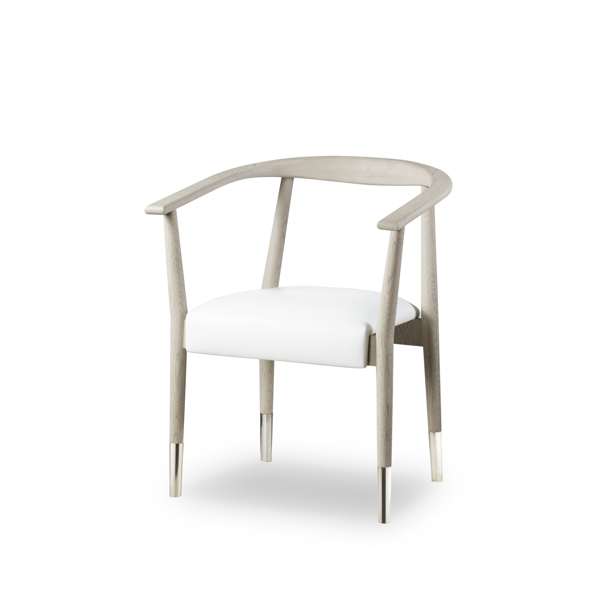 oak and white dining chairs fisher price table soho chair grey fallon leather resource decor
