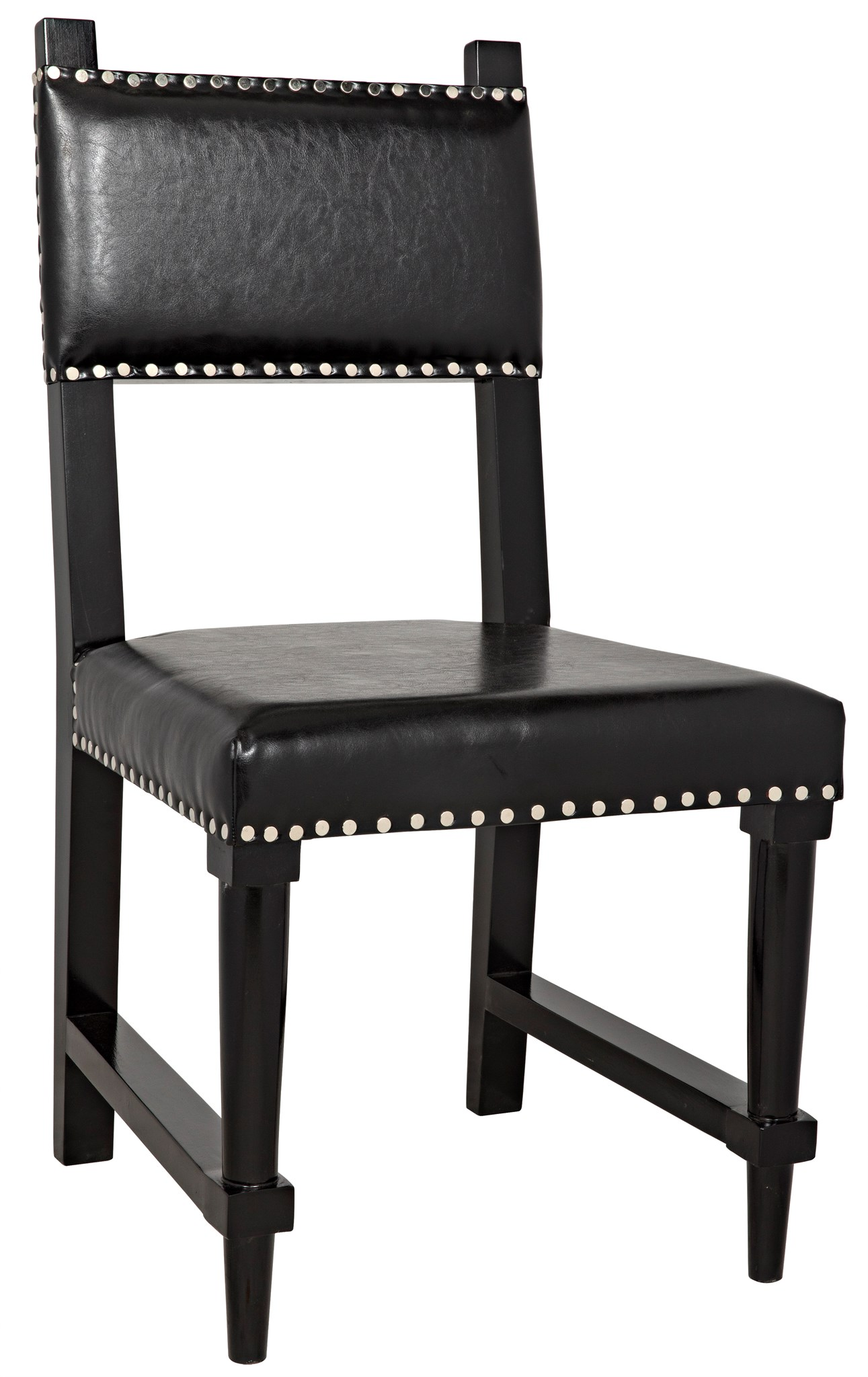 distressed black dining chairs power chairside end table collection kerouac chair noir