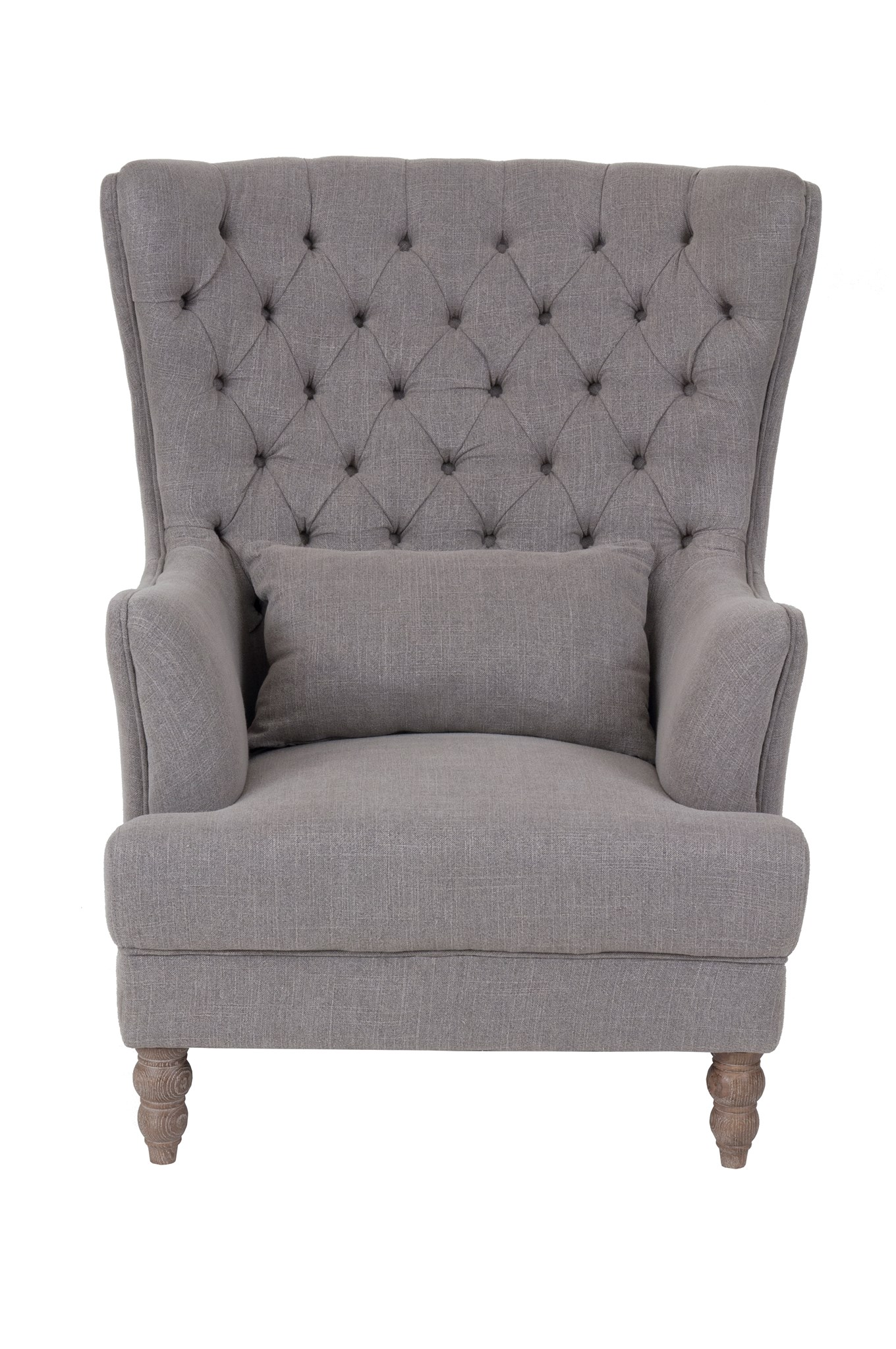 Oversized Wingback Chair Stockwell Button Tufted Oversized Wing Back Club Chair Kd Taupe