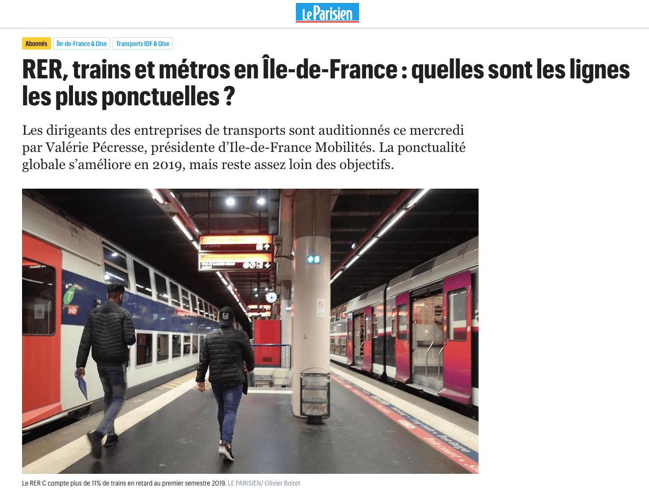 Nos questions à SNCF auditionnée par IDF Mobilités.