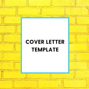 Cover Letter Template Shop Page