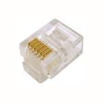 100 pz: Plug telefonico RJ11 6 contatti (6p6c)
