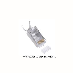 50 pz: Plug RJ45 schermato Cat 6A per cavo diam. 8 mm – alta qualità
