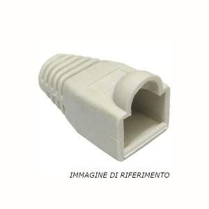 100 pz: Boot (Copri-plug) per RJ45, diametro cavo 8 mm max