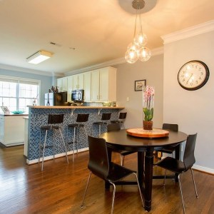 Formal Dining Table Space as well as Breakfast Bar Seating