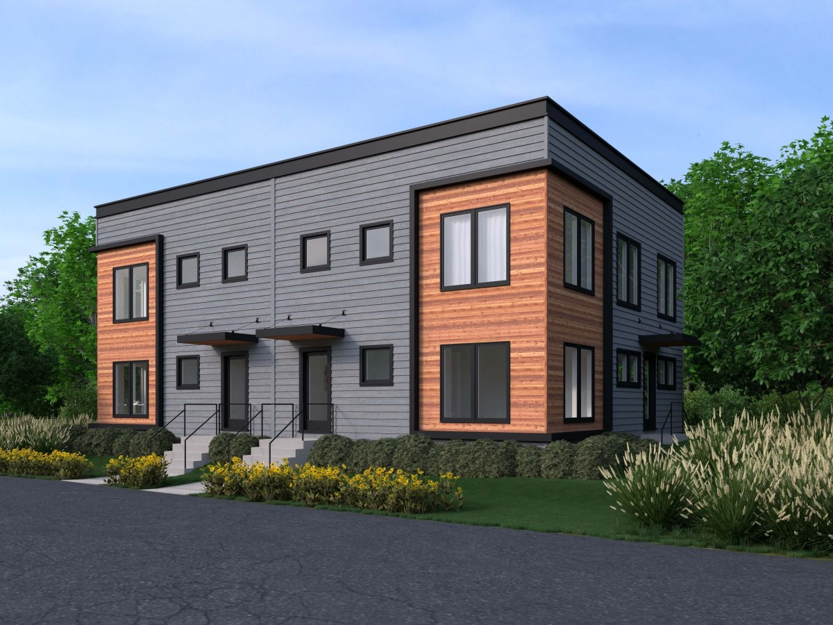 campusRVA rowhouses exterior rendering