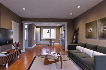 Tribeca RVA New Homes in Richmond VA Interior Rendering Living Room