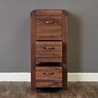 Shiro Walnut 3 Drawer Filing Cabinet - Wooden Furniture Store