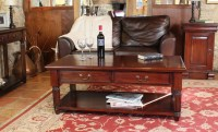 Mahogany Coffee Table With Drawers La Roque - Wooden ...
