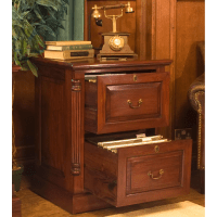 La Roque Mahogany Two Drawer Filing Cabinet - Wooden ...