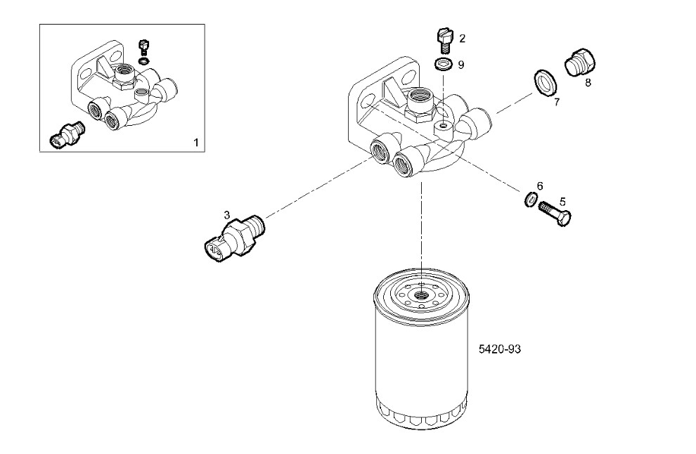 FUEL FILTER SUPPORT
