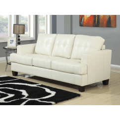 Coaster Bachman Sofa Reviews Set Covers In Bangalore Samuel Cream Bonded Leather Sleeper And