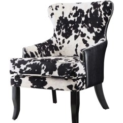 Cowhide Print Accent Chair Death Row Records Electric Coaster Letherette And Reviews