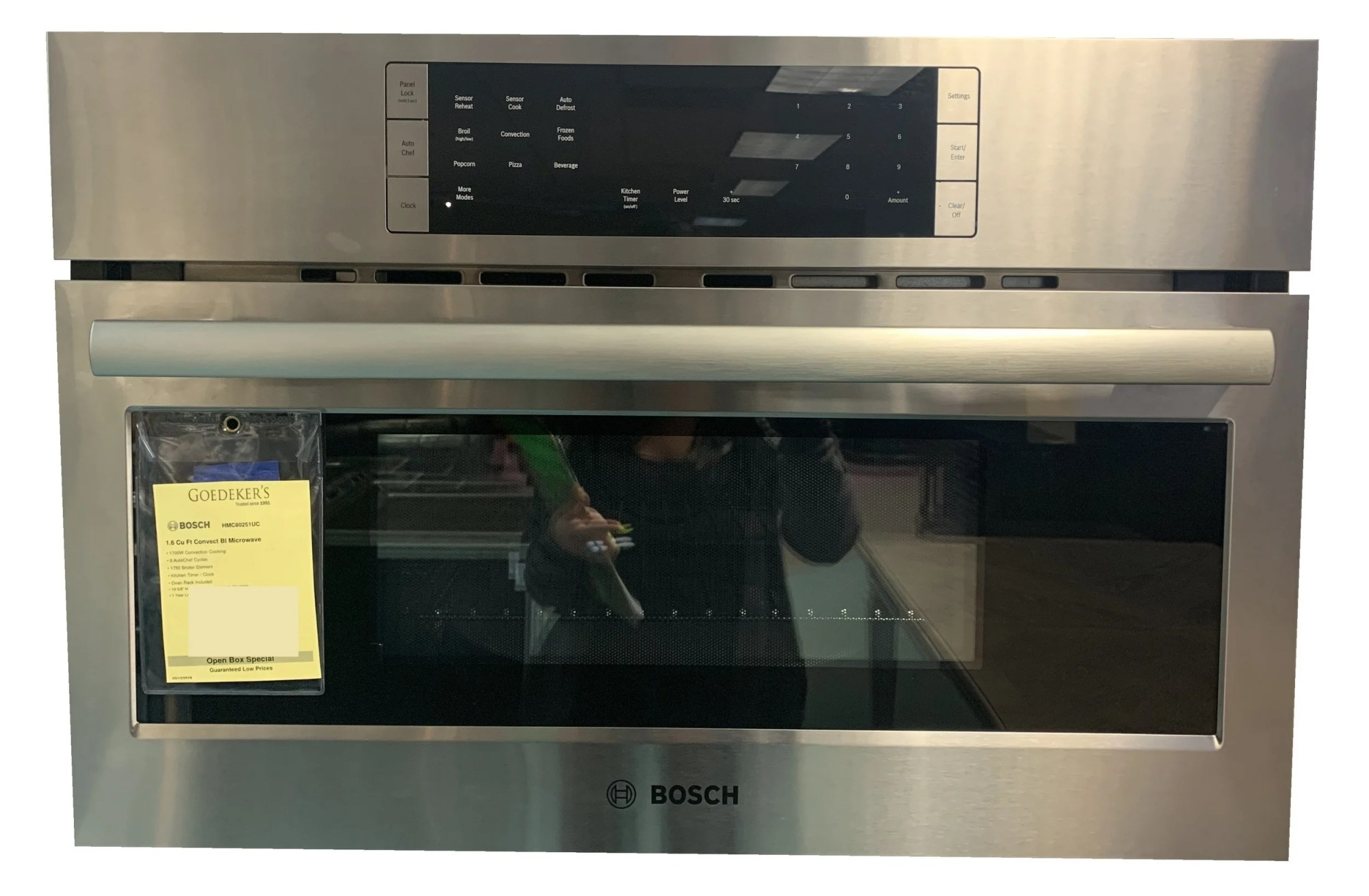 hight resolution of benchmark 30 stainless steel built in microwave convection speed oven