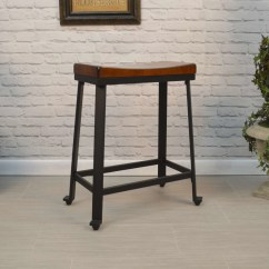 Saddle Seat Chairs Reviews 2 X 4 Rocking Chair Carolina Table Thea Chestnut Black 24 Stool