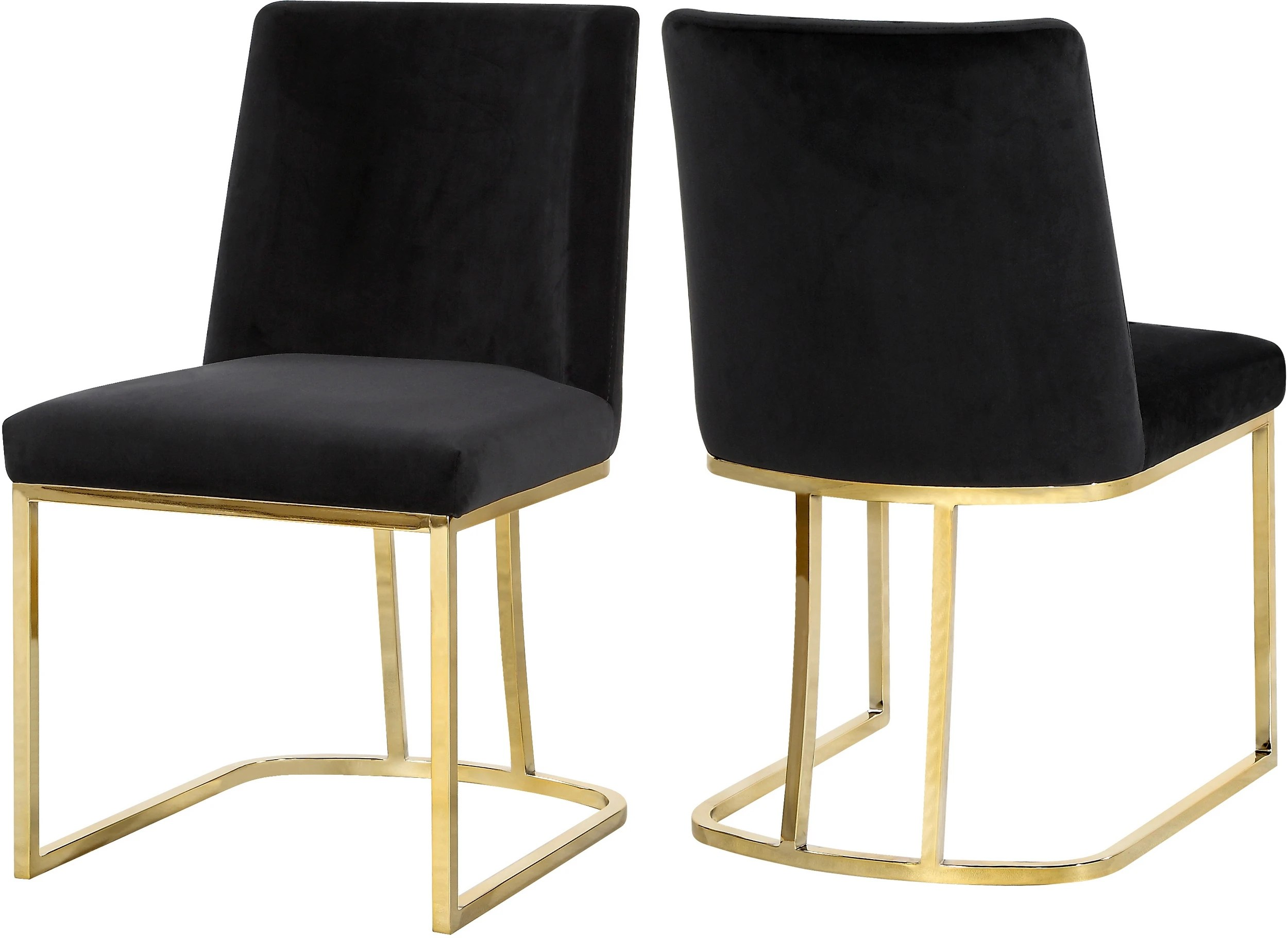 Dining Chair Set Of 2 Meridian 776black C
