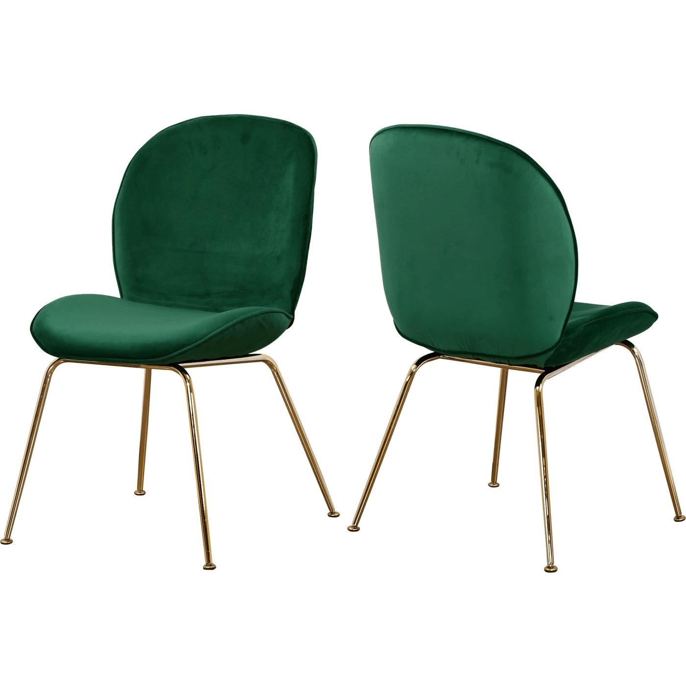 Green Velvet Dining Chairs Meridian Paris Green Velvet Dining Chair Set Of 2