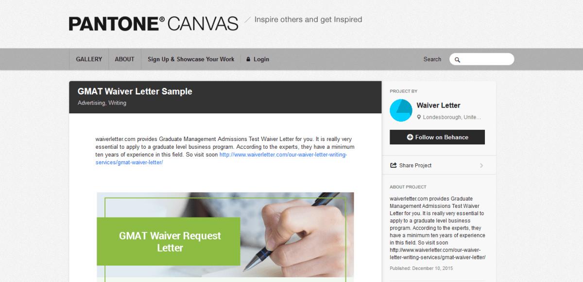 best gmat waiver letter