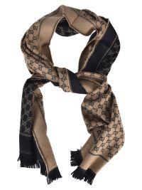 Gucci - Gucci Monogram Scarf - Nero beige, Men's Scarves ...