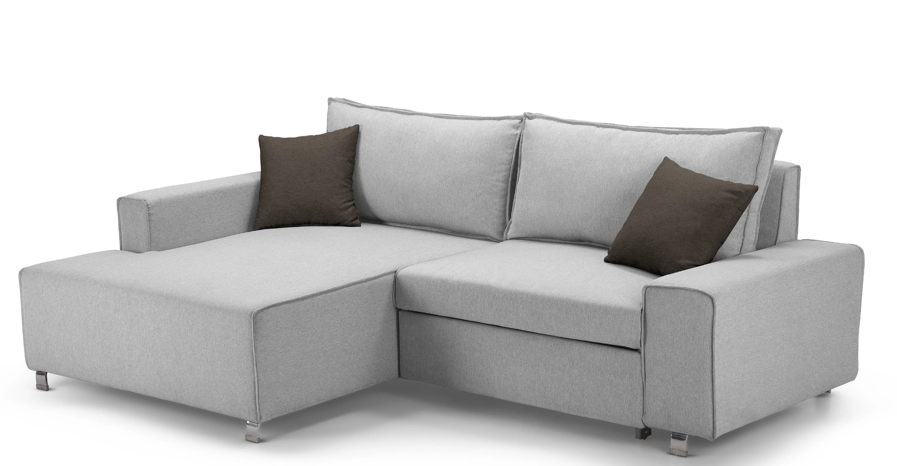 corner sofa bed roma grey pallet furniture table mayne left hand facing clear stone