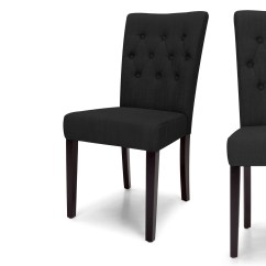 Noir Dining Chairs Ikea Poang Chair Parts 2 X Flynn Chaises D 39encre Made