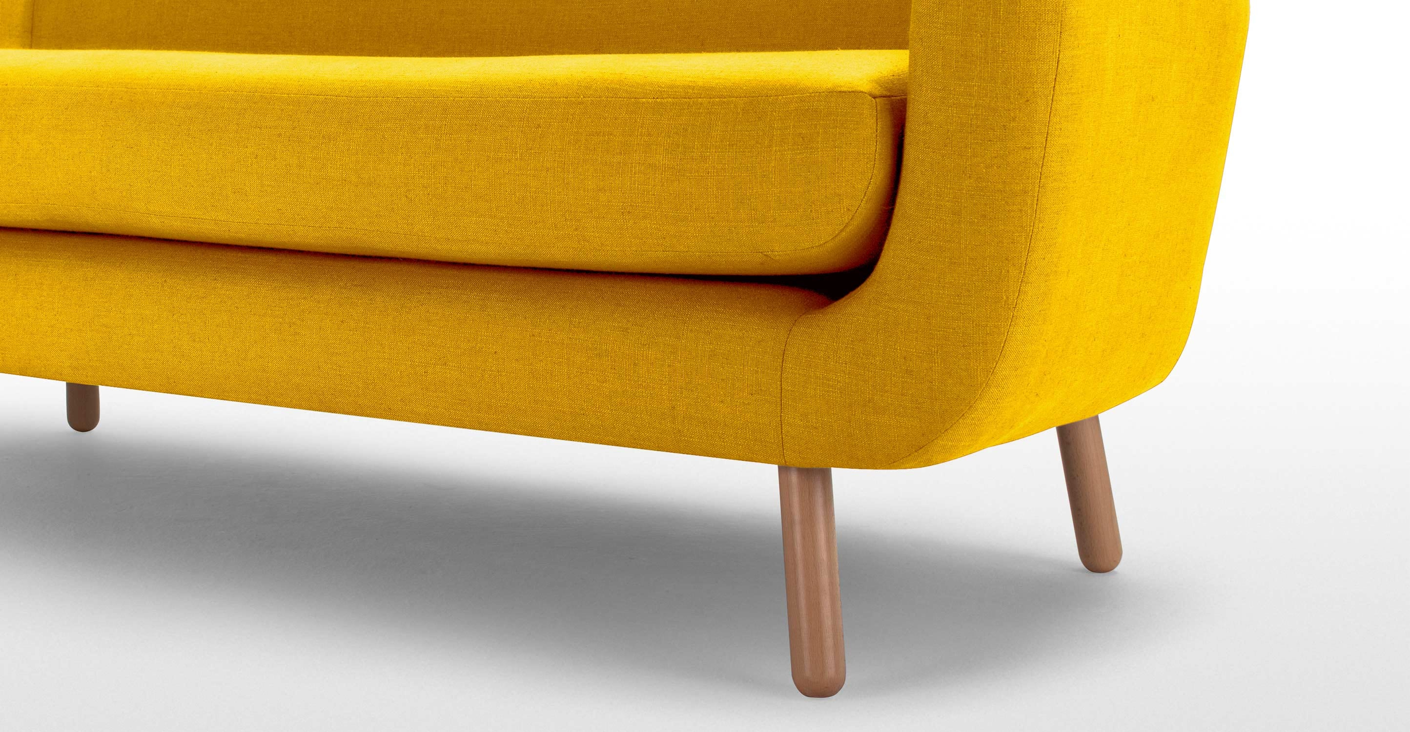 younger sofa james psychic usa jonah 2 seater in dandelion yellow made