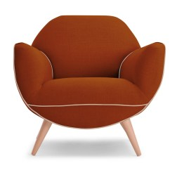 Burnt Orange Chair Uk Modern High Chairs Juno Armchair In Made