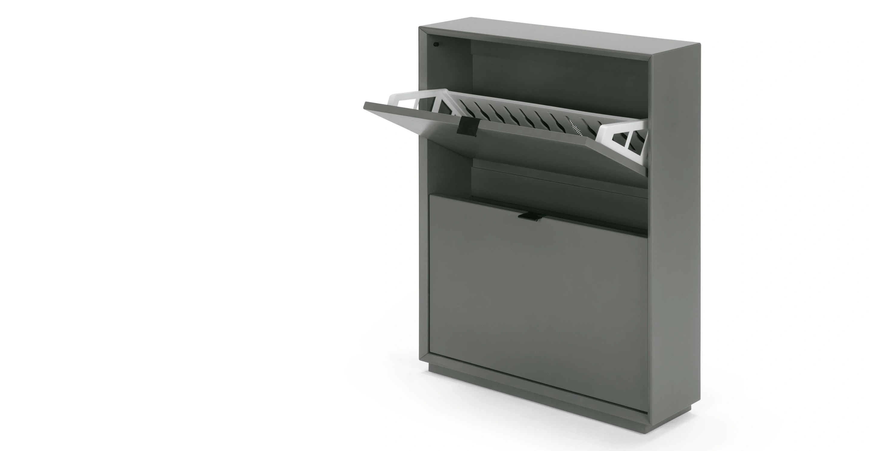 Marcell Small Shoe Storage Cabinet Grey  madecom