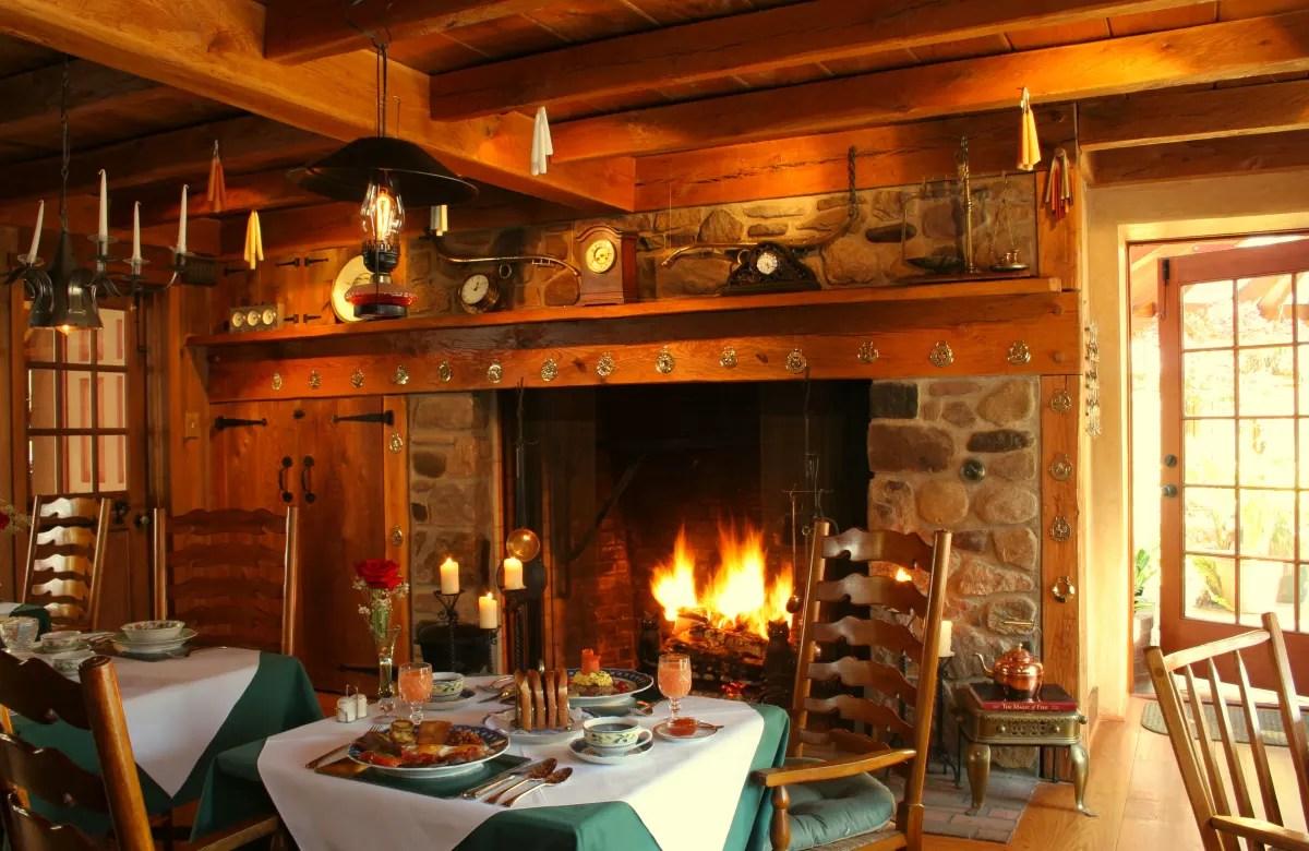 Bucks County Pennsylvania Dinner by the Fire