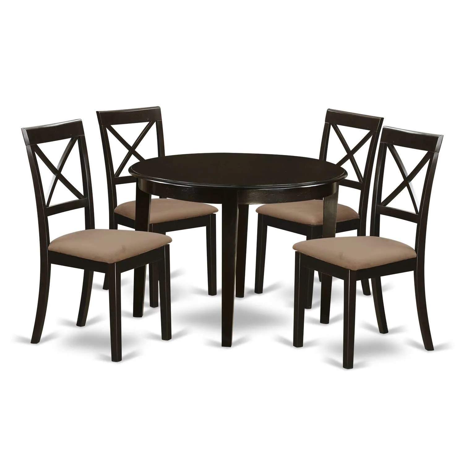 Set Of 4 Kitchen Chairs East West Furniture Bost5 Cap C