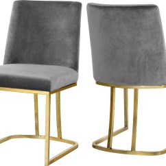 1ccbc856a7b Grey Velvet Dining Chairs Modern Vanity Chair Meridian Heidi Set Of 2  Reviews