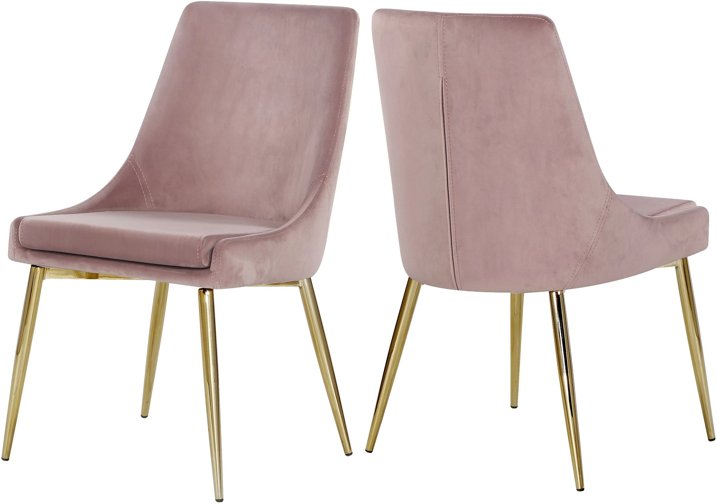Dining Chair Set Of 2 Meridian 783pink C
