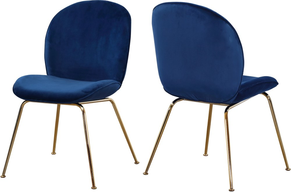 medium resolution of paris navy velvet dining chair set of 2