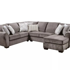 Simmons Reversible Chaise Sofa Bean Bag Cheap Upholstery Harlow Ash 2 Piece Sectional Reviews